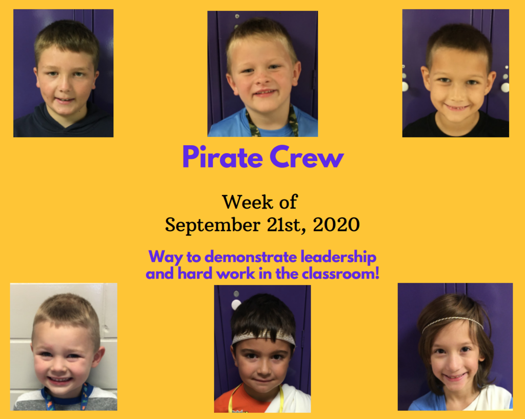Pirate Crew: Week of September 21, 2020