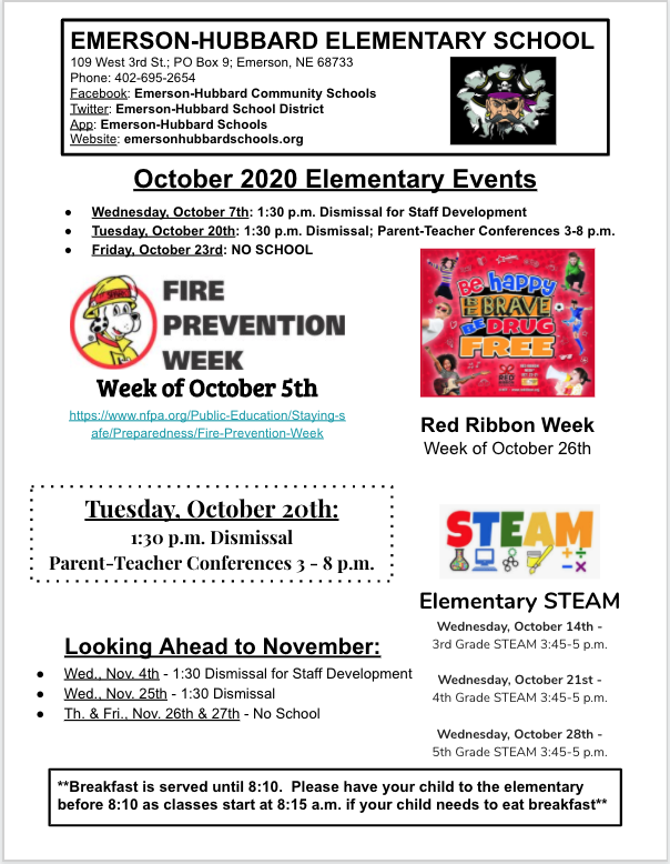 October Elementary School News - Page 1