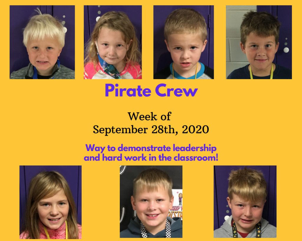 Pirate Crew: Week of September 28, 2020