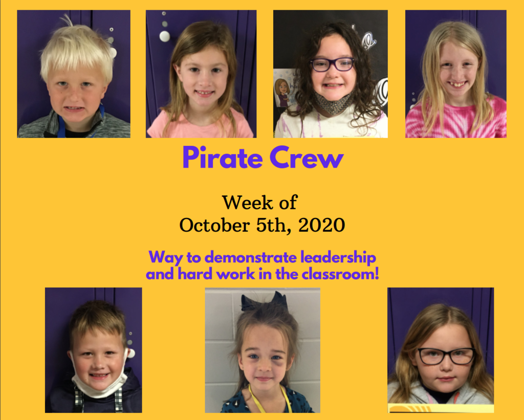 Pirate Crew: Week of Oct. 5, 2020