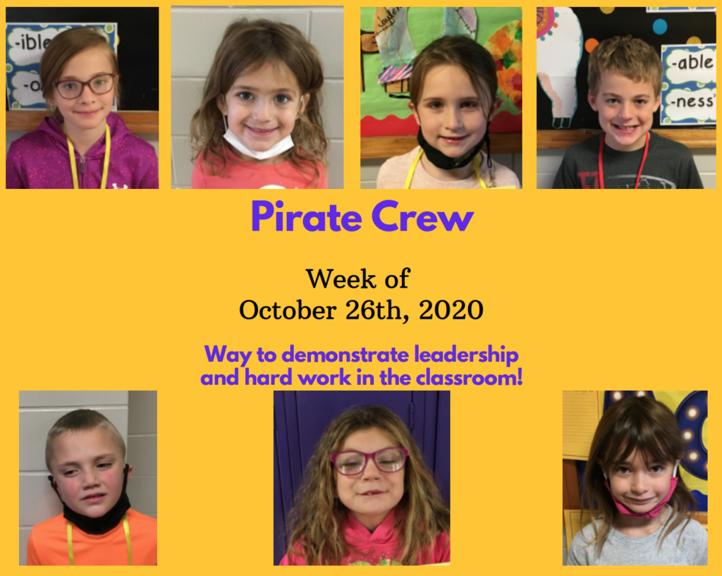 Pirate Crew: Week of October 26, 2020