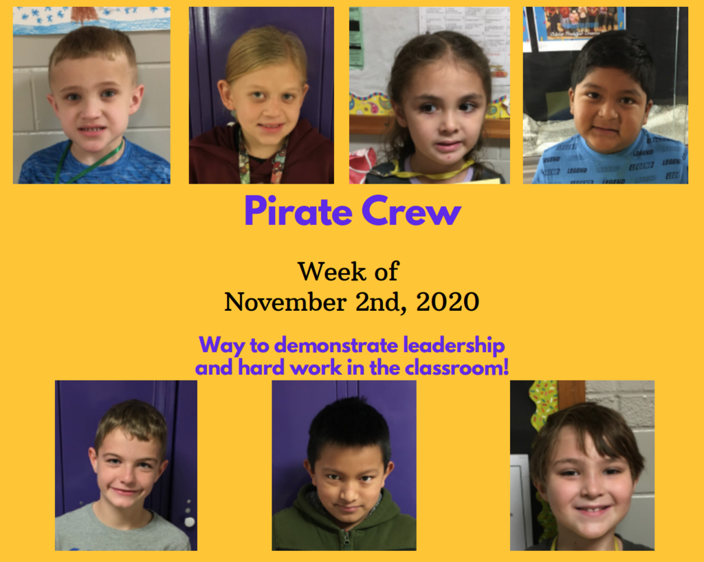 Pirate Crew: Week of November 2, 2020