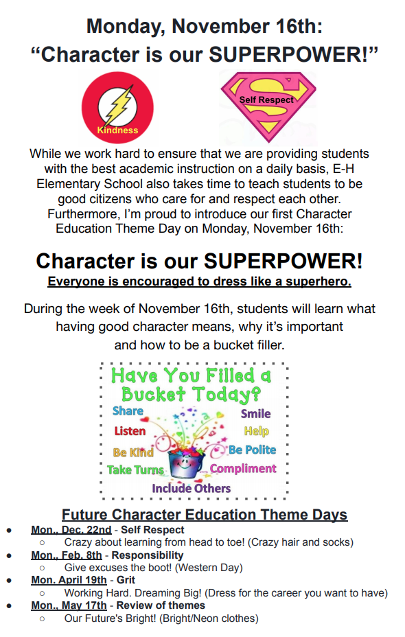 """Character is our SUPERPOWER!"" - Nov. 16, 2020"