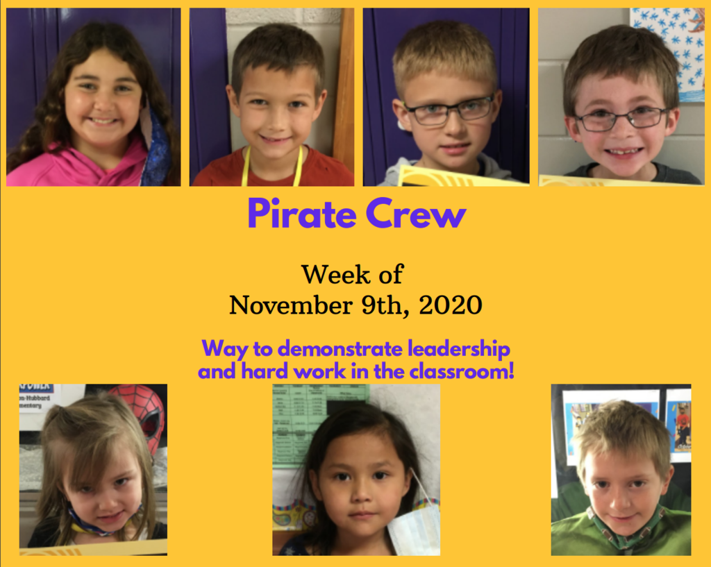 Pirate Crew: Week of November 9th, 2020