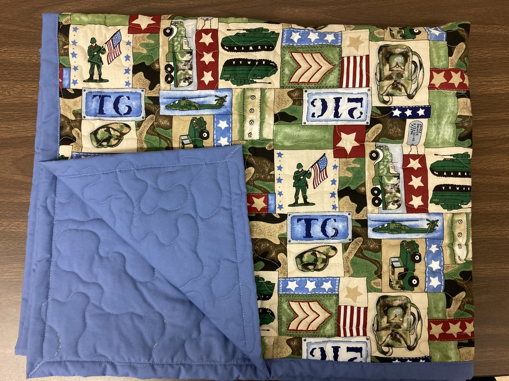 1 of 2 donated quilts