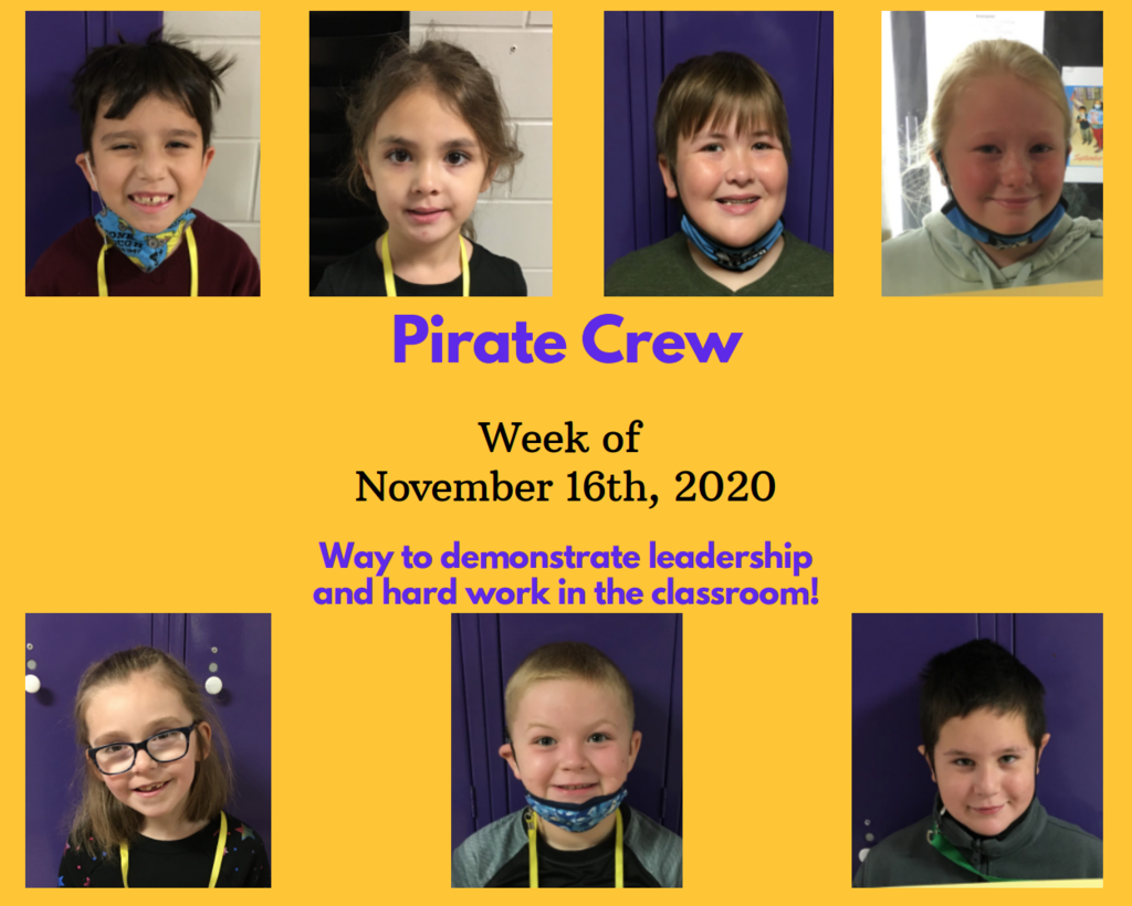 Pirate Crew: Week of November 16, 2020