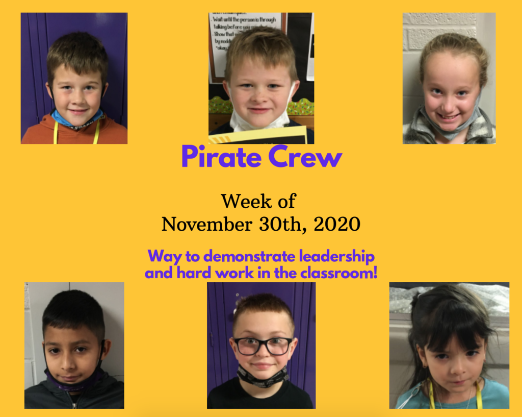 Pirate Crew: Week of November 30,  2020