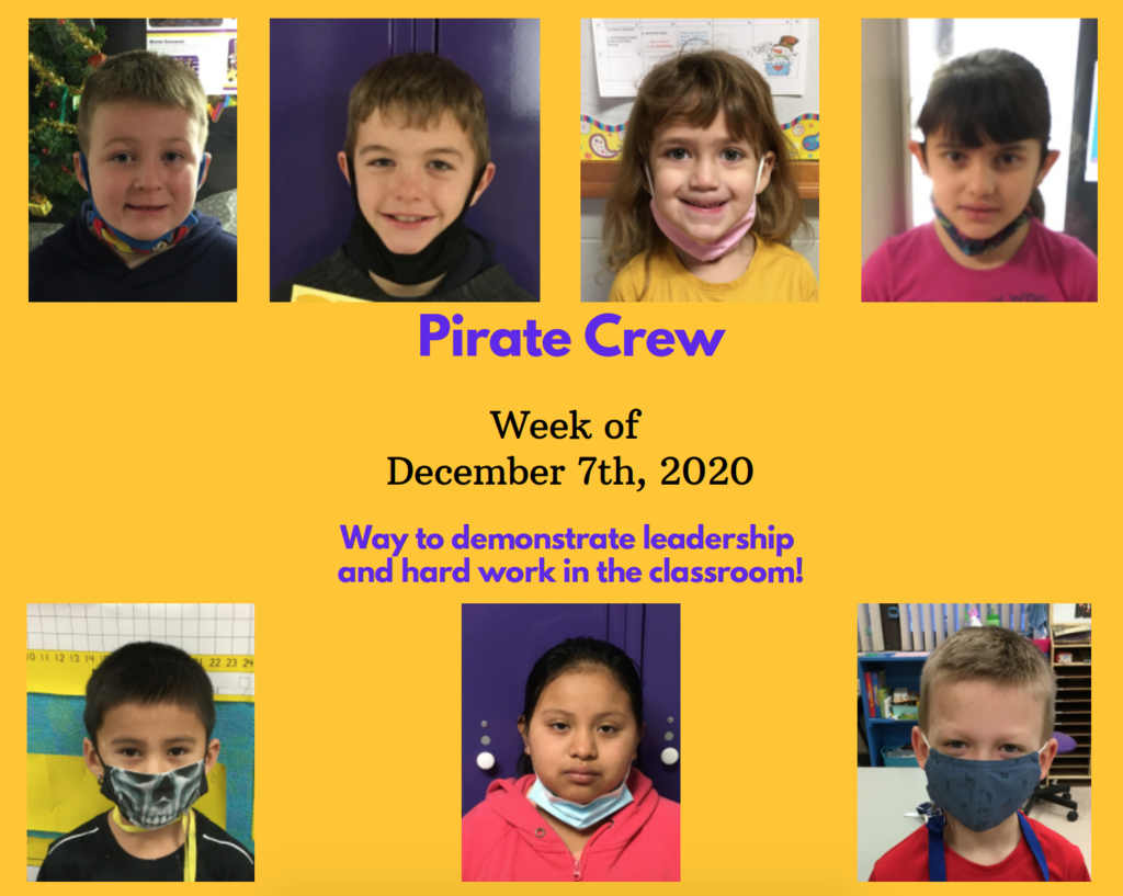 Pirate Crew: Week of December 7, 2020