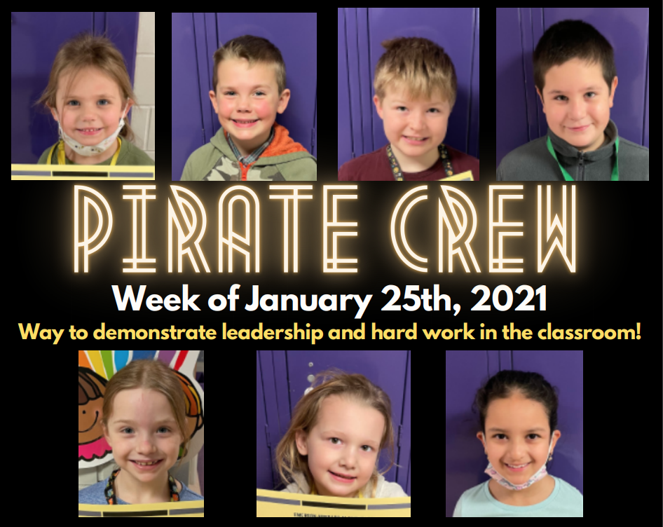 Pirate Crew: Week of January 25, 2021