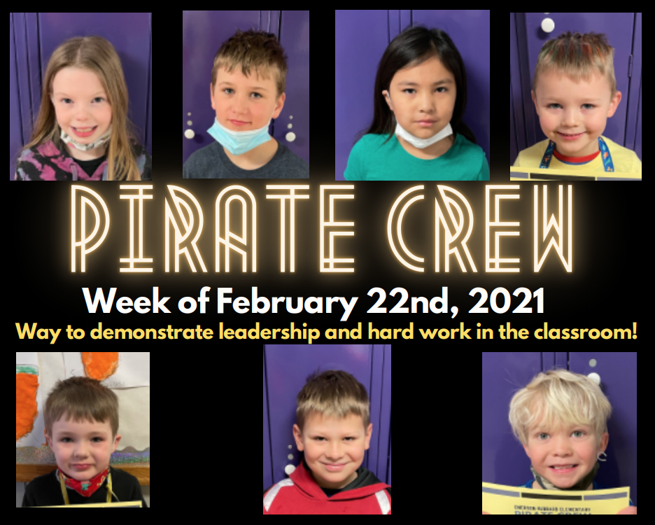 Pirate Crew: Week of February 22, 2021