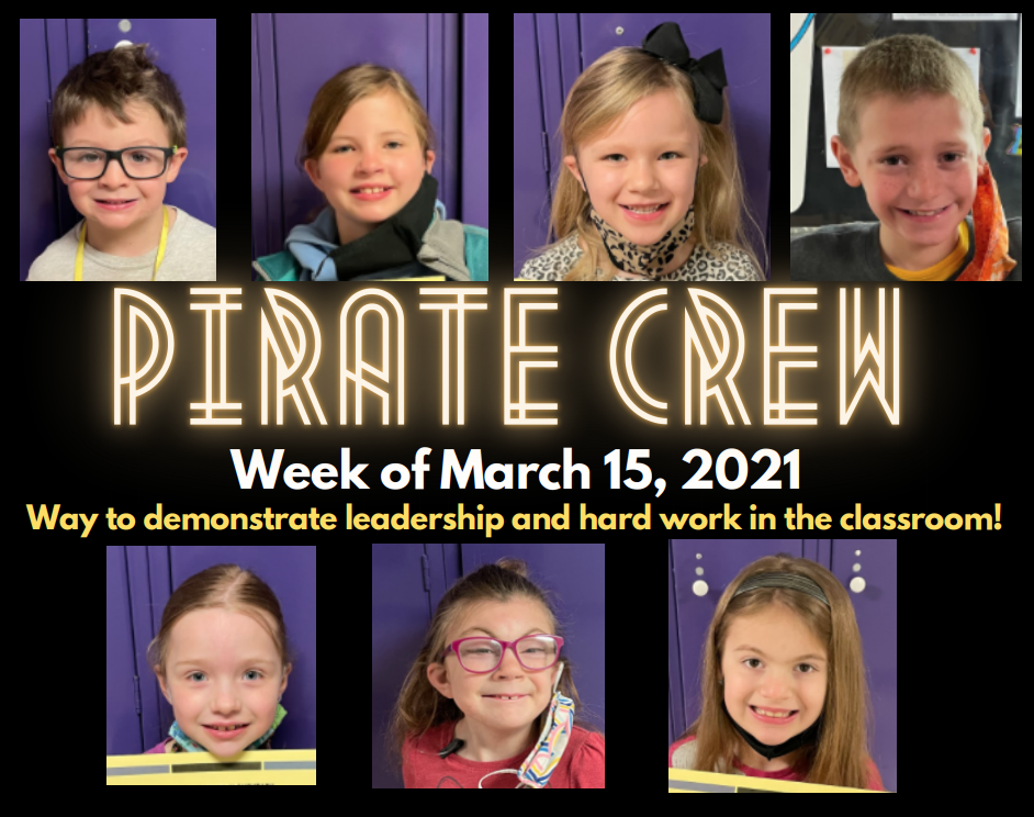 Pirate Crew: Week of March 15, 2021