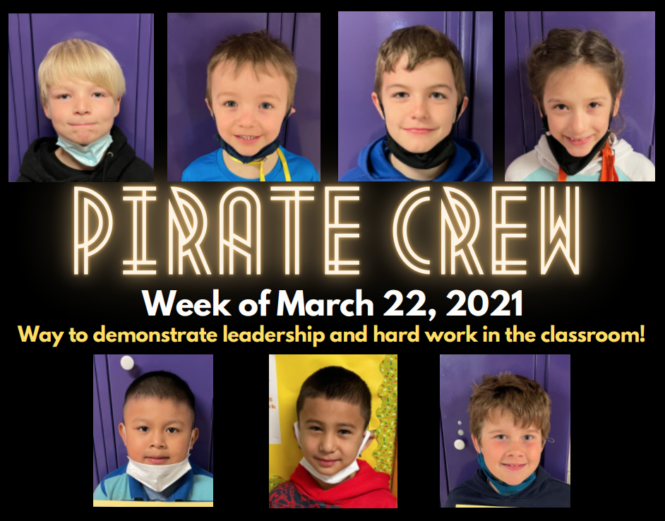 Pirate Crew: Week of March 22, 2021