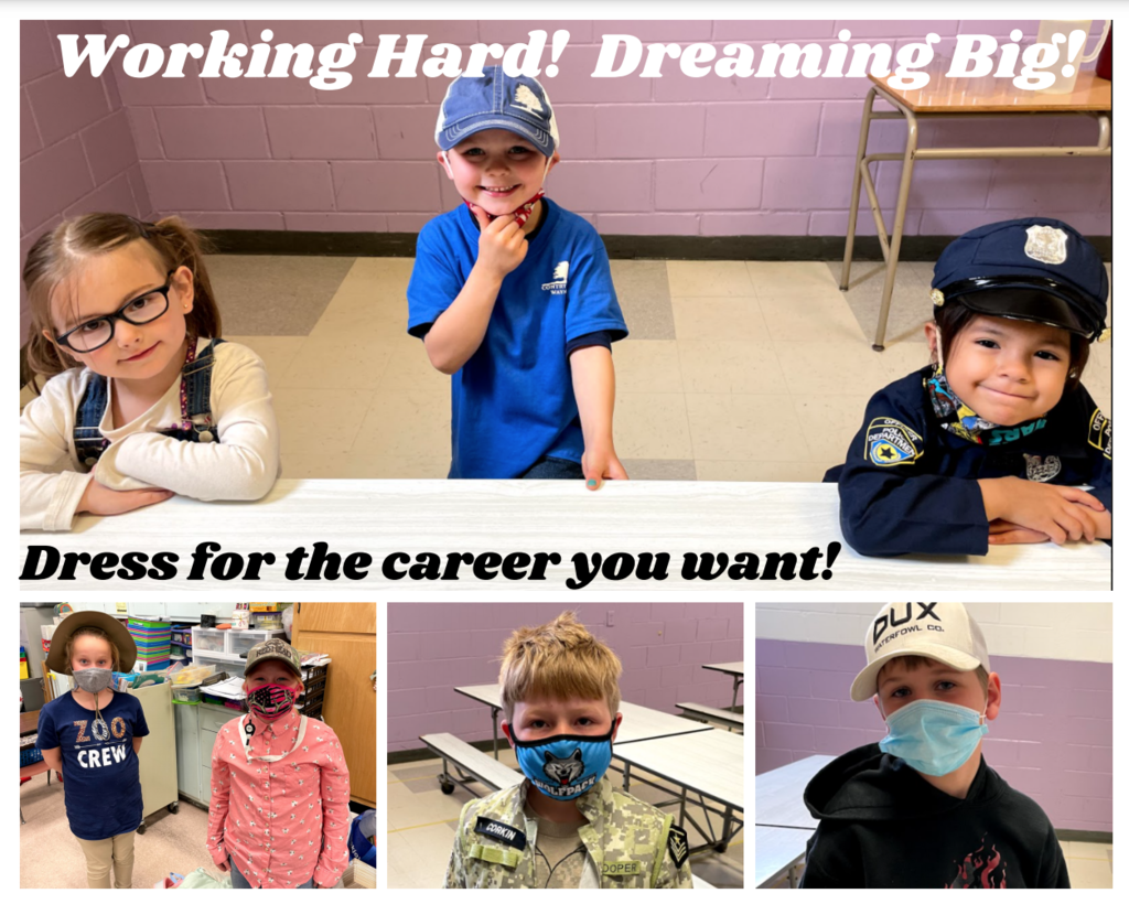 April 21, 2021: Grit - Working Hard!  Dreaming Big!  Dress for the career you want!