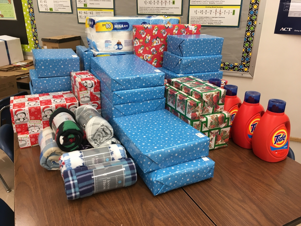 Some of the many gifts that will be going out to the communities!