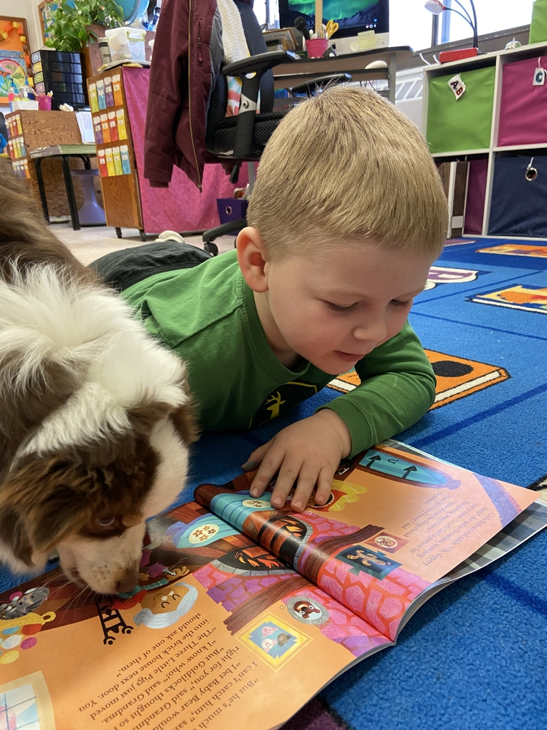 Ty reading to Taz.