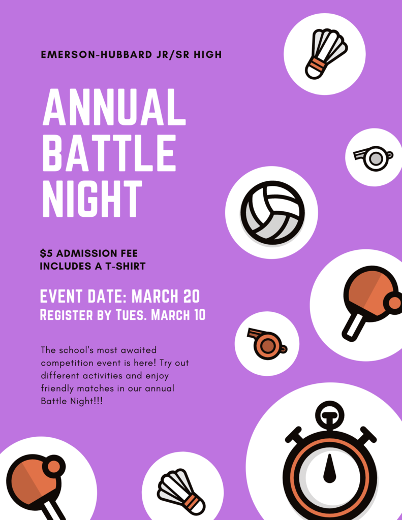 Register for the 2020 Battle Night event no later than Tuesday, March 10.