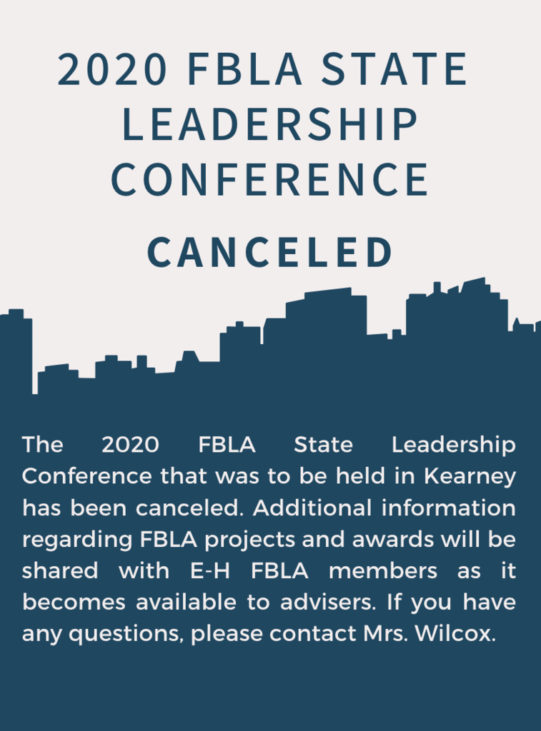 FBLA SLC Canceled