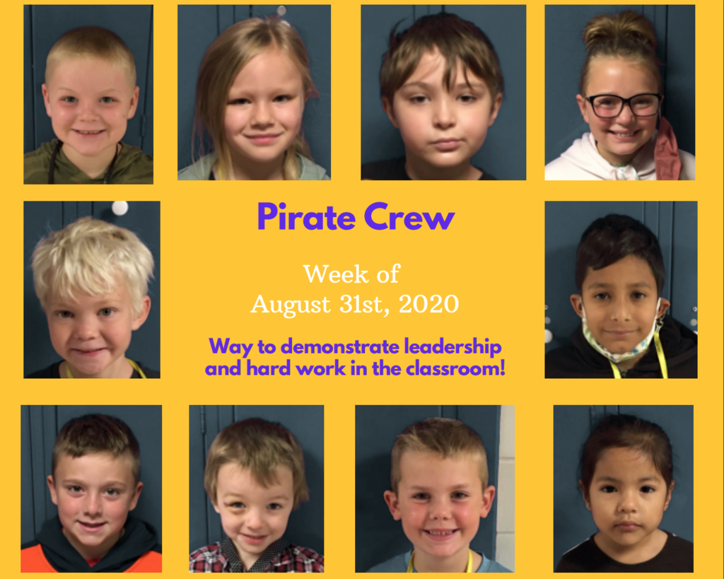 Pirate Crew for the week of August 31st, 2020