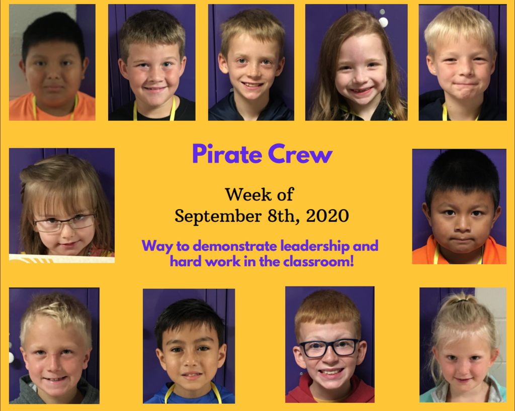 Pirate Crew for the week of September 8th